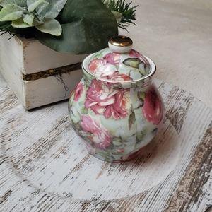 Rose Floral Lidded Candle Jar